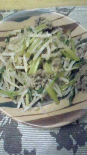 野菜と牛肉のウスターソース炒め