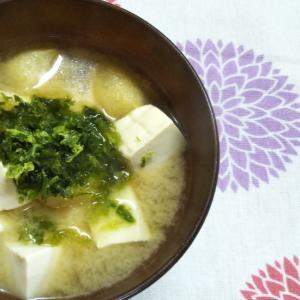 あおさと豆腐と油揚げのみそ汁