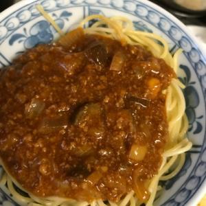野菜たっぷりミートスパゲティ