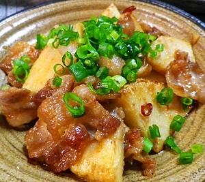 筍豚バラの味噌炒め