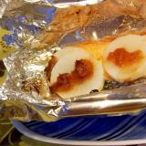 鮭と長芋のホイル焼き、梅干し風味