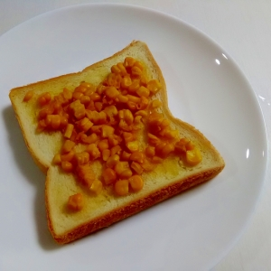とうもろこしの和風バタートースト