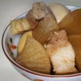 圧力鍋でこっくり美味しい★豚バラ肉と大根と卵の煮物