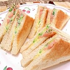 たらこdeチーズトーストサンド…なんと、おいしぃ〜