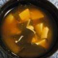 えのき茸とワカメと豆腐のお味噌汁♪