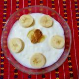 きな粉バナナヨーグルト