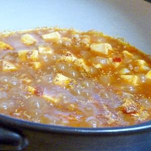 土鍋で作る麻婆豆腐