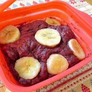 ねっとりしっとり♡ココアとバナナの蒸しケーキ♪