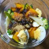 かぼちゃ&ゆで卵&ブロッコリーのサラダ