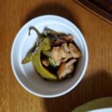 鶏もも肉と甘長とうがらしの甘辛煮