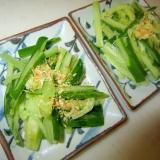 胡瓜の塩麹と鰹節サラダグリル