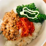 キムチとブロッコリーと納豆
