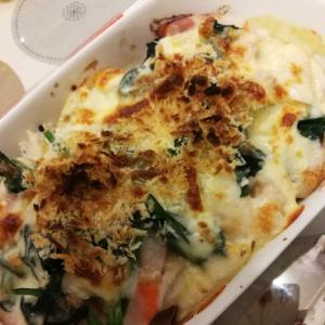 野菜とベーコンのグラタン