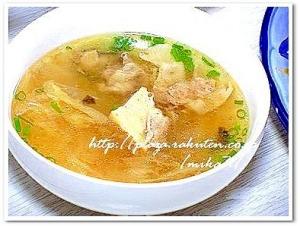 厚揚げの台湾風スープ