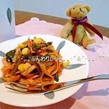 米粉麺でスパゲッティ