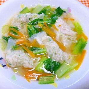 小松菜のスープワンタン