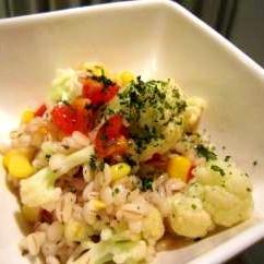 ぷちぷち☆大麦と野菜のサラダ