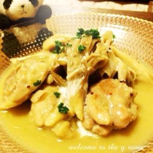 鶏と舞茸のマスタードクリーム煮♪