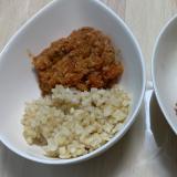 ひき肉とトマトのインドカレー(玄米)