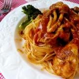 「鶏と野菜のトマト煮」&「山の幸のトマトパスタ」