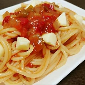 ☆簡単☆サルサソースで☆冷製トマトパスタ☆