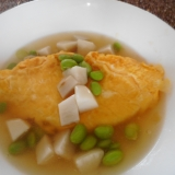 枝豆と里芋のあんかけオムレツ