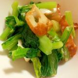 小松菜とちくわのマヨ炒め