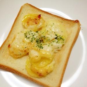 朝食に☆ポテトチーズマヨトースト
