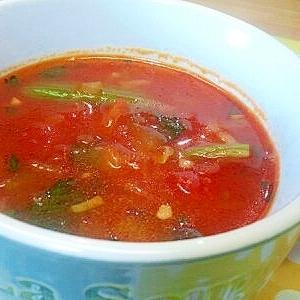 しめじ&ほうれん草のトマトスープ