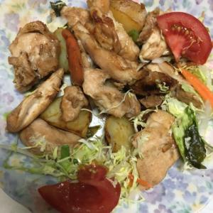 チキンと野菜のガーリックソテー!
