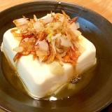 桜エビとごま油のカリカリ豆腐