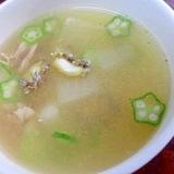 夏の滋養食☆ 冬瓜とアワビの中華風スープ