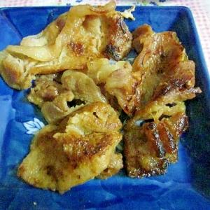 豚肉の甘辛カリカリ焼き