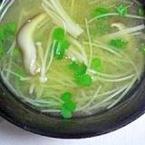 茸とカイワレ大根のお味噌汁