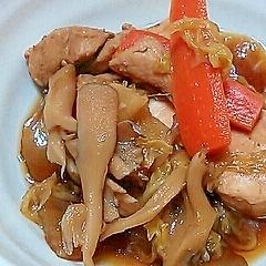 マグロと白菜と舞茸のうま煮