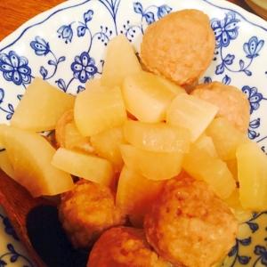 炊飯器使用☆材料コレだけの肉団子と大根の煮物
