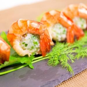 まるでお寿司!?はんぺんボールの海老巻き