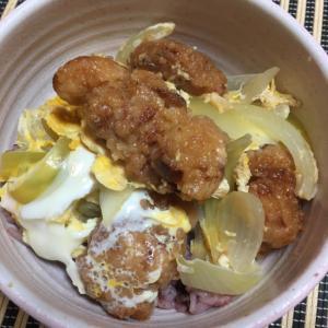 唐揚げ卵とじ丼