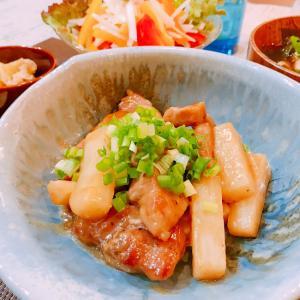 豚肉と長芋の甘酢炒め