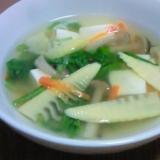 筍・春菊入り*春の香りの具だくさん中華スープ