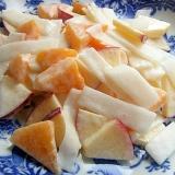 5分!?+ヨーグルト❤柿&林檎の大根サラダ♪