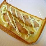 ササミの醤油麹焼きをのせたトースト♪