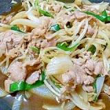 豚丼のタレで野菜炒め