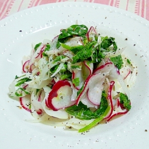ホタテ貝柱とラディッシュのサラダ
