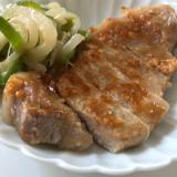 簡単*豚厚切り肉の味噌漬け焼き