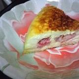 炊飯器de苺+豆腐チーズケーキ