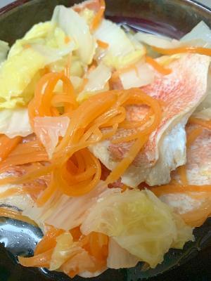 赤魚、白菜、にんじんの簡単煮