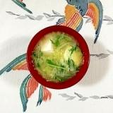 キャベツと絹ごし豆腐のお味噌汁