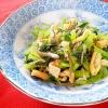 じゃこ、油揚げ、小松菜の炒め物