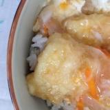イカの天ぷらをリメイク⇒イカの丼(*^^*)